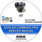 Kohler Command Pro CS 4-12.75HP  Horizontal Crankshaft Service Repair Manual CD