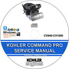 Kohler Command Pro CV940-CV1000  Service Repair Manual CD