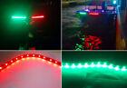 Red Green 12V Boat Submersible Marine 1 Ft Bow Navigation LED Strip Light 1210