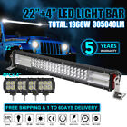 """22"""" Inch +4X4"""" INCH Led Work Light Bar Offroad Fog Truck For JEEP CAR CREE 1968W"""