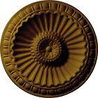 Ekena Millwork CM11LIPGS Linus Ceiling Medallion, Pharaohs Gold