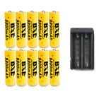 10PCS 18650 BXE 9800mAh Li-ion 3.7V Rechargeable Batteries + 1 Dual Charger New