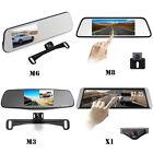 Dual Lens Car DVR Mirror Dash Cam Video Recorder + Rear View Backup Camera kit