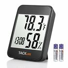 TACKLIFE Hygrometer Thermometer 2-in-1 Digital Temperature Humidity Gauge wit...