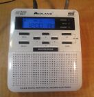 MIDLAND WR-100B WEATHER Clock Radio S.A.M.E NOAA digital all Hazards Alert Radio
