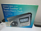 Sharper Image Travel Soother 20 Radio iPod Clock SI721 Input for iPod MP3 # 1059