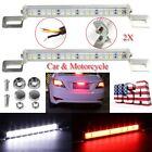 2x White 30 SMD Bolt-On LED Lamp Car License Plate Backup Reverse Rear Light Bar