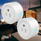 2 Pack Mini Remote Control Timer Switch WiFi Smart Power Socket Outlet US Plug