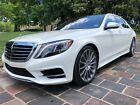 2015 Mercedes-Benz S-Class S550 4MATIC 17K Certified Warranty Until 9/2021 4MATIC designo Diamond White over Nut Brown