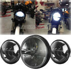 7'' Projector LED Headlight Passing Light For Harley Electra Glide Ultra Classic