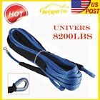 """1/4"""" x50ft Blue Synthetic Winch Line Cable Rope 8200 LBS Sheath for JEEP ATV UTV"""