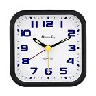 DreamSky Analog Alarm Clock with Snooze and Nightlight, Non Ticking, Battery Ope