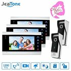 Home Security Systems Jeatone Video Door Phone Intercom Multi-unit Apartment Kit