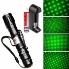 GREEN LASER BURNING POINTER PEN 532nm VISIBLE BEAM LIGHT + BATTERY + CHARGER