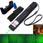10 Miles Green Laser Pointer 5mw 532nm JD851 Light Visible Beam + 18650 Battery