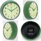 Classic 1950S Wall Clock Retro Kitchen Garage Workshop Metal Round Vintage New