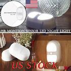 LED Night Light Human Motion Auto Sensor Lamp Battery Power Bedroom Wall Bulb US
