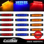 "15Pcs Amber& Red& Blue 3.8"" Side Marker Light Truck Trailer Boat Clearance 6LED"
