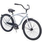 Beach Cruiser Bike Men Comfort Aluminum Balloon Tire Bicycle White 26 Inch