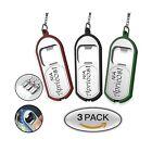 3-in-1 LED Mini Flashlight Keychain Bottle Opener - Ultra Bright Flashlight, ...