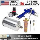 2.5mm HVLP Gravity Feed Air Spray Gun Kit Regulator Gauge Auto Car Paint Primer