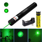 532nm 2in1 Green Laser Pointer Lazer Pen Beam Light +18650 Battery charger