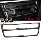 New Carbon Fiber CD Console Control Panel Trim Cover Interior Decal For BMW F30