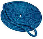 "3/8""x20' Blue Double Braid Dock Line"