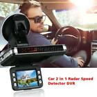 "2.0"" 2In1 Car Camera DVR Dash Cam Recorder+Radar Laser Speed Alert Detector F7O3"