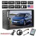 """7"""" Android 6.0 Car Radio Stereo Quad Core 3G WIFI Double 2DIN MP5 Player GPS AK"""