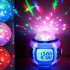 LED Projection Digital Alarm Clock Thermometer Calendar Music Starry Sky Star