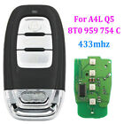 New Smart Remote Key Keyless Entry 3 Button 433MHz for Audi A4 Q5 8T0 959 754C