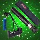 Green Laser Pointer Pen 20 Mile 532nm Powerful Star Cap Pet Toy+Batt+Char+Holste