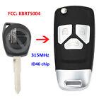 Upgraded Remote Key Fob 315MHz ID46 for Suzuki Swift SX4 2006-2010 FCC: KBRTS004