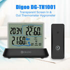 Clock Wireless Transparent Screen Digoo DG-TH1001 Hygrometer Thermometer