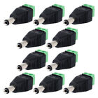 DC Male Jack Screw Terminal Block Connector Kit Power Plug Adapter For TV Camera