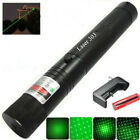 Military High Power Green Laser Pointer Pen + 18650 Battery & Charger NEW