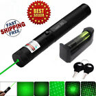 Military 1mw 532nm Green Laser Pointer Pen Beam 18650 Battery & Charger NEW