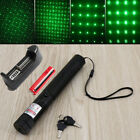 Poweful 8000M 532nm 1mw 303 Laser Pointer Pen kit+18650 Charger Adapter NEW