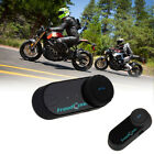 2X BT Bluetooth Motorcycle Helmet Interphone Intercom Headset 800M 3 Riders New
