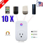 10X Smart WiFi Socket Switch Outlet Timer APP Control Compatible Amazon Alexa US