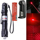 Military 5mws Red Laser Pointer Pen 532nm Visible Beam Zoom Burn + 18650 Battery