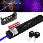 Blue Purple Laser Pointer Pen 405nm 50Mile Visible Beam Amazing Funny Pet Toys