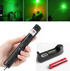 Powerful Green Laser Pointer Adjustable Focus Beam 532nm Light Burning Lazer Pen
