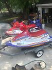 2 POLARIS JET SKIS NO RESERVE! BOTH START/ RUN! DOUBLE GALVANIZED TRAILER INCL.