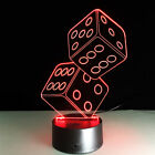 """Awesome """"Stacked Dice"""" 3D Lamp Office Game room hallway classroom gift bar(2218)"""
