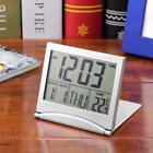 Foldable LCD Digital LED Alarm Clock Thermometer Backlight Calendar Timer Desk