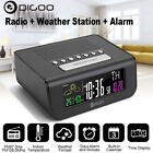 Newest Digoo Smart Digital Alarm Clock Weather Sensor Clock with FM Radio Clock-