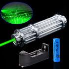 Top 1-Watt 532nm Green Laser Pointer Zoom Light Beam Lazer Pen + 18650 + Charger