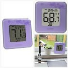 Tabletop Digital Thermometer Hygrometer Indoor Temperature Humidity Home Purple